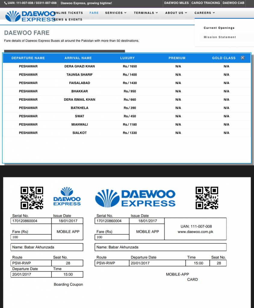 Daewoo Hacked Ticket